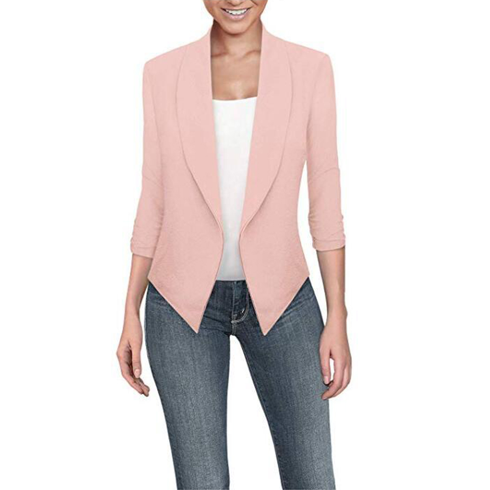 OEAK 2019 Ladies Blazer Long Sleeve Blaser Women Suit jackets Female Feminine Femme Solid Color Autumn