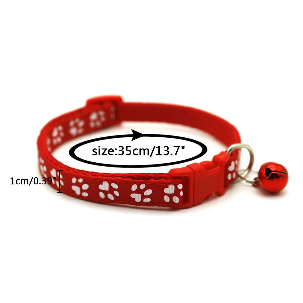 Köpek tasması ayarlanabilir Pet köpek kedi tasma yansıtıcı Pet çan yaka için uygun kediler ve küçük köpek malzemeleri tasma aksesuarları