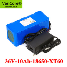 VariCore batería de litio para motocicleta, 36V, 10000mAh, 500W, alta potencia, 42V, 18650, equilibrio, coche, bicicleta, Scooter con cargador de 42v y 2A