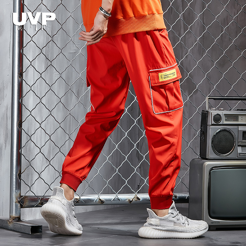 Streetwear Mens Sweat Pants Joggers Male Trousers Gym Clothing Casual Pants Man Tracksuit Trousers Casual Pants Multi-Pocket