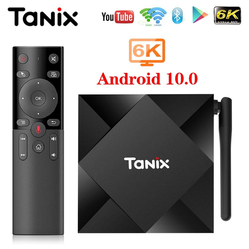 TV Box Android 10 Tanix TX6S 4GB 64GB Allwinner H616 Quad Core 6K H.265 Dual Wifi Google -player Set-Top Box TX6 Android 10,0
