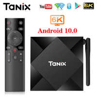 TV Box Android 10 Tanix TX6S 4GB 64GB Allwinner H616 Quad Core 6K H.265 Dual Wifi Google Player Set Top Box TX6 Android 10.0