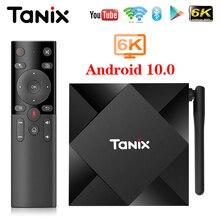 Tanix TX6S ТВ Box Android 10 4 Гб 64 Гб Allwinner H616 4 ядра 6K H.265 двухъядерный процессор Wi Fi Google плеер Декодер каналов кабельного телевидения TX6 Android 10,0