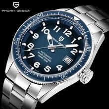 цена PAGANI DESIGN waterproof automatic watch man business Hardlex men's mechanical watch watches men mechanical watch men automatic онлайн в 2017 году