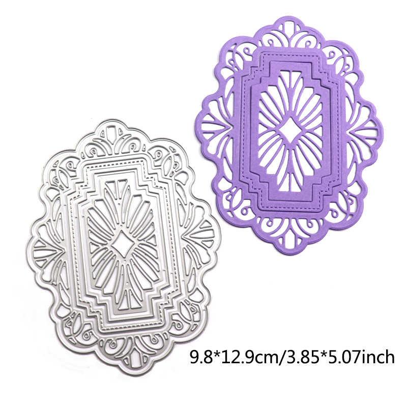 Wyse Ronde Metalen Stansmessen Vierkante Hart Cirkel Sterven Rechthoek Ovale Achtergrond Craft Sterven Scrapbooking Voor Diy Card Template