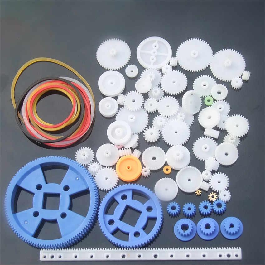 80 ชิ้น/เซ็ตของเล่น DIY อะไหล่ชุดเกียร์เกียร์,เข็มขัด,Bushings,ฟันทองแดง,รอก, เกียร์เดี่ยวชิ้นส่วนหุ่นยนต์มอเตอร์เกียร์อุปกรณ์เสริม
