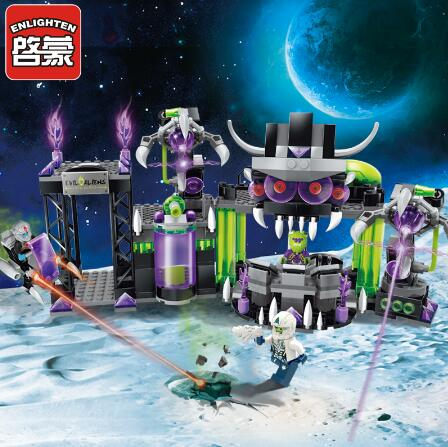 Permalink to Models building toy ENLIGHTEN 1613 Space Adventure Villains Alliance Base 398Pcs Building Blocks compatible with  toys