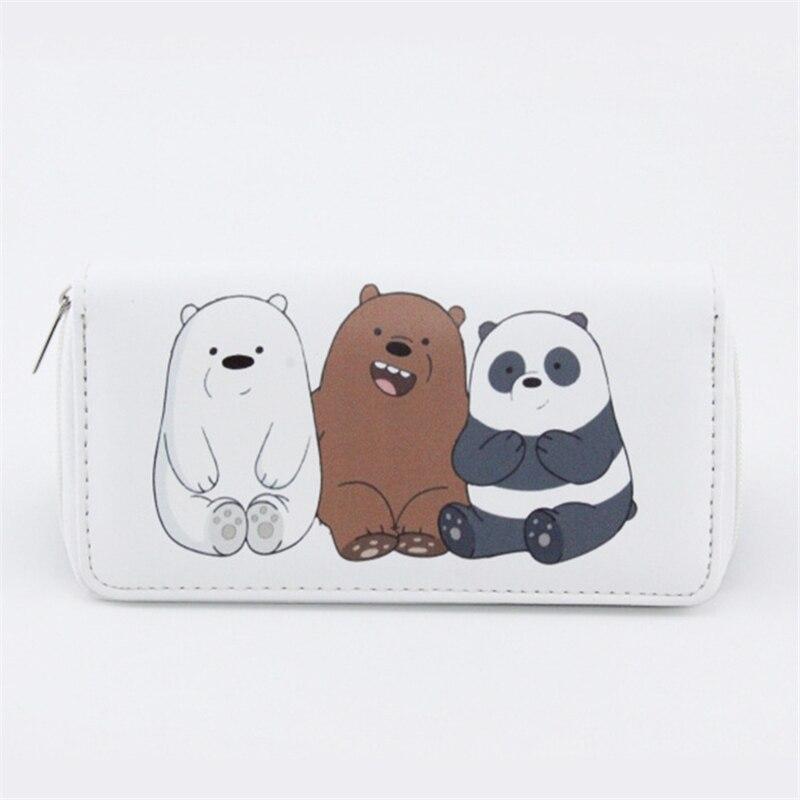 High Quality Long Cute Bears Women's Purse Cute Cartoon Panda Wallet Money Bags For Teenagers Girls Female Ladies Clutch Purse