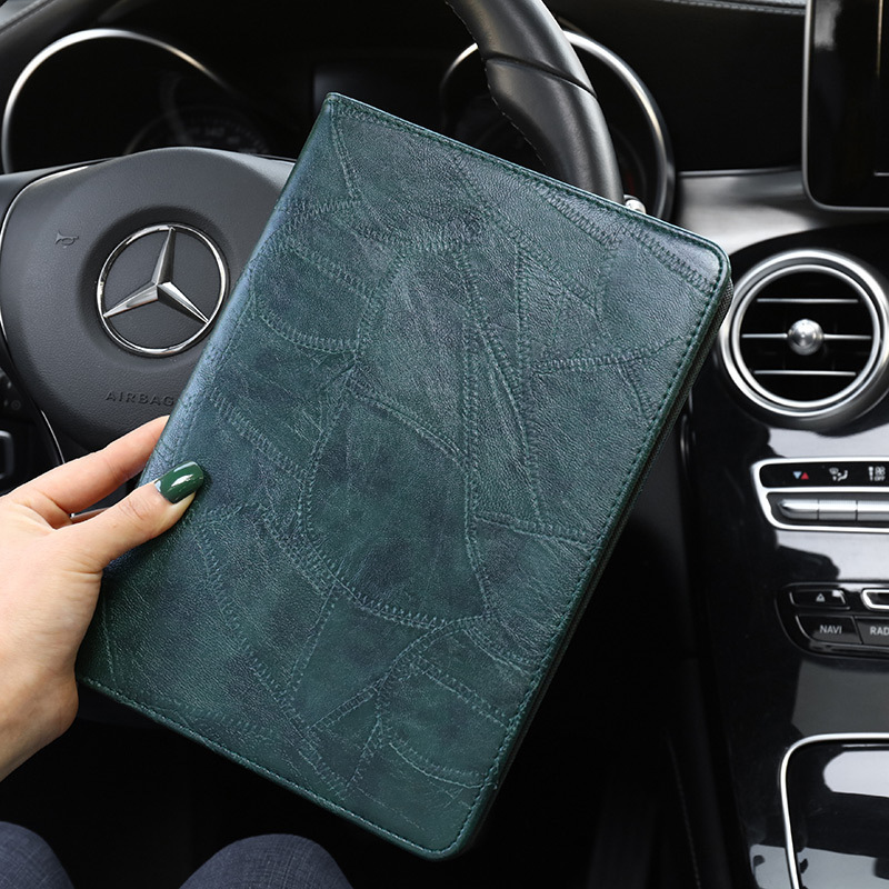 dark green White Smart Case For iPad 2019 10 2 A2200 A2232 Luxury Business Silicon Leather Cover for ipad