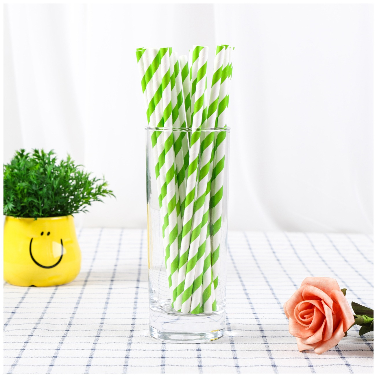 Currently Available Wholesale Disposable Colored Paper Straw Tiao Wen Zhi Straw Party Creative Paper Straw