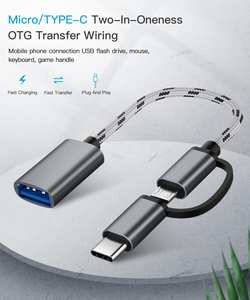 Otg-Adapter Cable Usb-Converter Office Micro Usb/type-C 2-In-1 To Travel