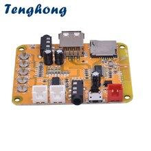 Tenghong Mini Bluetooth 4.1 MP3 Audio Decoder Board 5W*2 Amplifier Bluetooth Audio Receiver Module Supports WAV APE FLAC DC5V