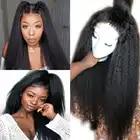 Eversilky предварительно вырезанные афро кудрявые прямые 13x4 Синтетические волосы на кружеве парики из натуральных волос на кружевной детскими ...