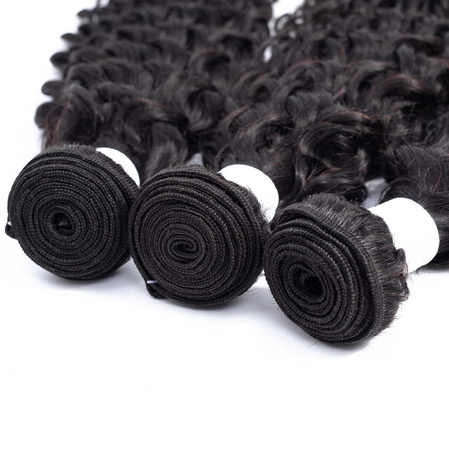 Bling Hair Water Wave Hair Bundles Brazilian Hair Weave Bundles 100% Human Hair Extensions Natural Color 8-26 Inch Free Shipping