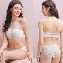 Lingerie sexy para o sexo feminino conjunto sutiã push up fio livre fino sutiã feminino sem alças macio roupa interior