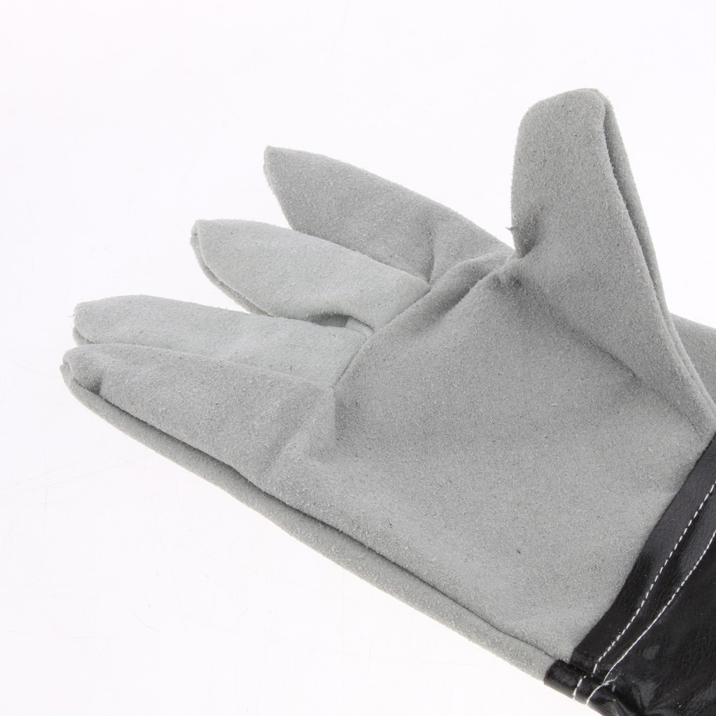 Cowhide Long Welding Protective Gloves Hand Cover, Breathable, Fireproof, Wearable, Soft, Heat And Fire Resistance
