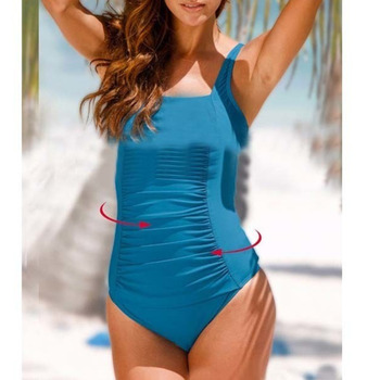 Sexy One-piece Large Size Swimwear With Push Up Women Plus Size Swimsuit Closed Body Female Bathing Suit For Pool Beach Wear 11