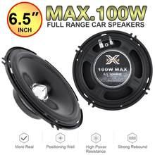 2 pces 6.5 Polegada gama completa freqüência carro alto-falante de áudio pesado mid-bass ultra-fino modificado alto-falante não-instalação destrutiva