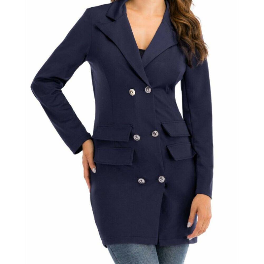 2019 New Winter Blazers Women Ladies Long Sleeve Slim Blazer Suit Coat Work Jacket Formal Suit Plus Size Solid Color Blazers
