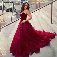 Vestidos de fiesta de noche New Velvet Tulle Sweetheart Backless ALine Burgundy Prom Dress Trailing Beauty Party Party Gowns