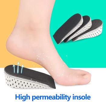 1 para wzrost wysokości oddychająca pół wkładka wysokość wkładka wkładka do butów dla Unisex dla pięty podnieś 2-4cm wysokość zwiększona tanie i dobre opinie Half Insole CN (pochodzenie) Produkt do pielęgnacji stóp Nieelektryczne Height Increase EVA + mesh + memory foam Black