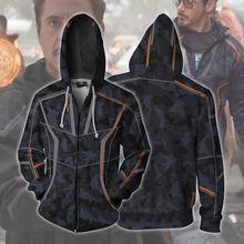YINUODAIL Mens Hoodies The Avengers 3D Hoody Sweatshirt Marvel Iron Man Cosplay Costume Tops Hooded Jacket
