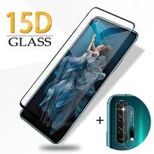 15D couvercle complet verre de protection pour Huawei Honor 20 Pro verre trempé protecteur décran Film de sécurité sur Honer 20 Honor20 Pro Glas
