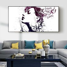 Figure oil painting abstract image of Goddess art canvas painting living room corridor office home decoration mural