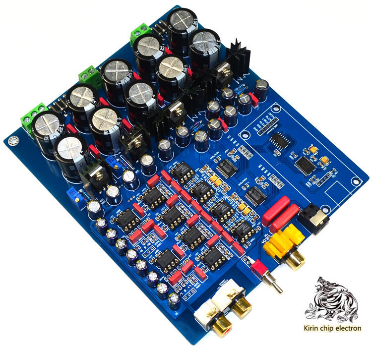 1pcs / Lot YJ Dual Chip Pcm1794 + Ak4113 Luxury Decoder DAC (supports Fiber Coax USB Input