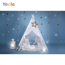 Yeele Tent Toy-Bear Star Lamp Scene Baby Child Portrait Photo Backdrop Newborn Boy Photographic Backgrounds For Photo Studio