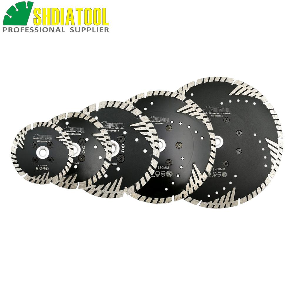 SHDIATOOL Metal Bond Diamond SawBlade With Slant Protection Teeth Cutting Grinding Disc Stone Granite Concrete Diamond Blade