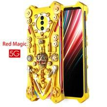 Dla ZTE Nubia czerwona magia 5G etui na telefon czerwona magia 5G gotycka w całości z metalu przekładnia mechaniczna pancerna obudowa dla czerwonej magii 5G Coque