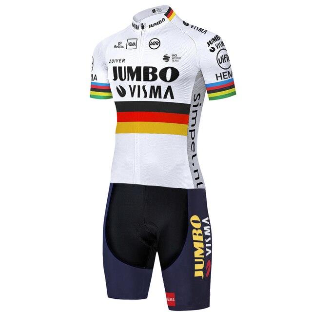 2020 equipe jumbo visma ciclismo skinsuit verão ao ar livre roupas de bicicleta triathlon uniforme 20d gel bodysuit 2