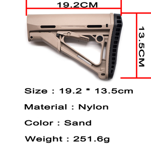 Image 5 - Outdoor Tactical Game Equipment for Airsoft Air Guns Jinming 8 M4 Water Bullet Nylon Rear Butt Model Rifle Paintball Accessories