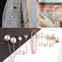 3Pcs/4Pcs Women`s Fashion Brooch Set Pearl Brooch Pins Badge Sweater Coat Decorative Jewelry Pin Brooches for Women