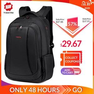 Image 1 - Tigernu Anti Theft Nylon 27L Men 15.6 inch Laptop Backpacks School Fashion Travel Backpacking Backpack Male Backpack For Laptop