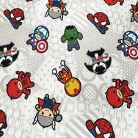 140cm Width Marvel Super Heroes Cream Polyester Canvas Fabric for Boy Bags Slipcover Cushion Cover DIY-BK610