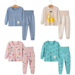 Bebê meninos meninas pijamas novo outono manga longa roupas infantis pijamas de algodão conjuntos para crianças 2 3 4 5 6 anos