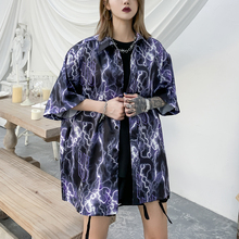 Lightning Gothic Clothes Summer Tops Plus Size Blouse Streetwear Oversized Women Clothing Goth Hawaiian Aloha Shirt 2020 Fashion
