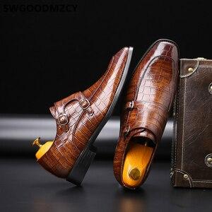 Image 2 - Çift keşiş askısı ayakkabı erkek resmi ayakkabı Oxford ayakkabı erkekler için Zapatos De Hombre Italiano Chaussure Homme Mariage Chaussure Homme