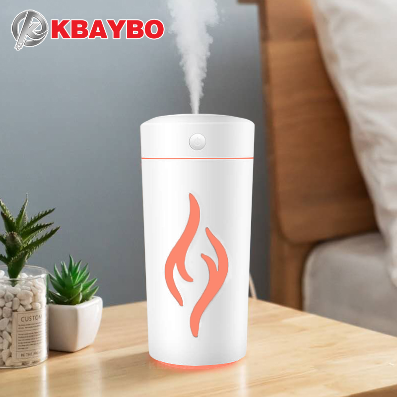 1200ml USB Aromatherapy Humidifier Smart Health Air Humidifier Essential Oil Diffuser Heavy Fog With Colorful Night Light For Home Or Office