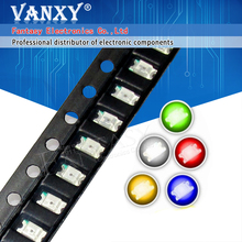 100pcs 1206 SMD LED diodes light  yellow red  green blue White Hot sale