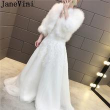 Janevini 2020 элегантные Для женщин меховые накидки/Свадебные
