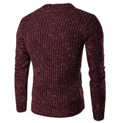 Winter Sweater Men Solid Color Sweaters Warm Casual Knitted Pullovers
