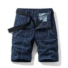 Шорты мужские пляжные в клетку, повседневные камуфляжные короткие брюки в стиле милитари, шорты-карго, бермуды, лето 2020