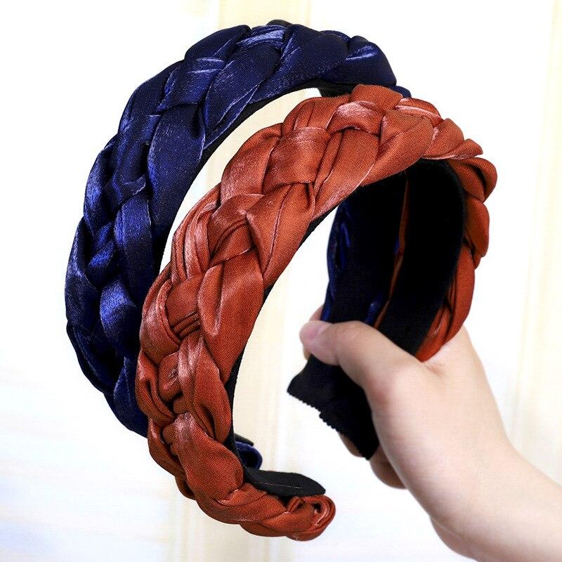 Solid Color Ponytail Type Women Hairband Headband Premium Fabric Ladies Hair Hoop Hair Accessories Headwear