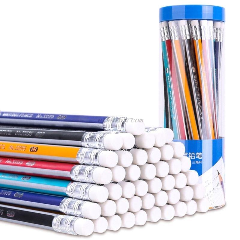 50 pces 2b hb desenho desenho escrevendo lapis artigos de papelaria escola material de escritorio presentes