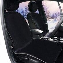 Araba koltuğu sıcak kapak el yapımı tüm deri kürk klozet kapağı kış sıcak koltuk araba iç yumuşak ped oto iç aksesuarları