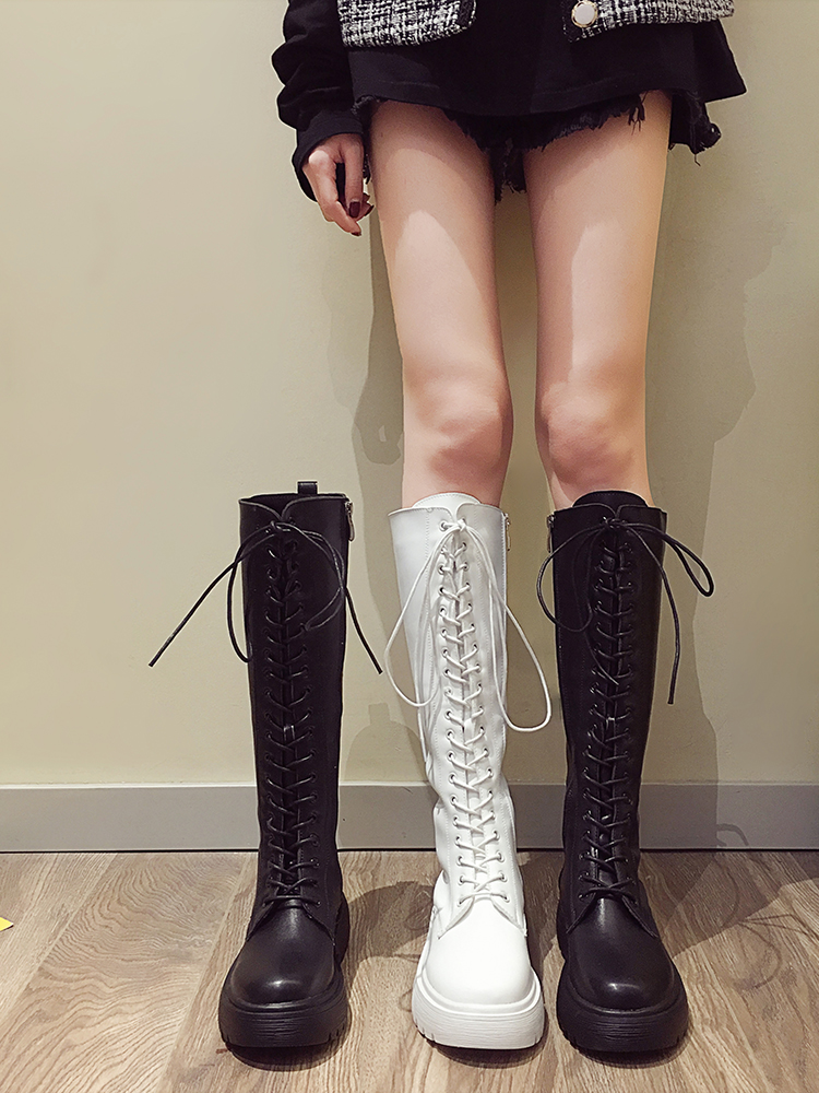 2020 New Sexy Party Shoes Woman Over The Knee Boots Girls Fancy Dress Wedge Women Boots Bright Patent Leather Long Boots Size 39