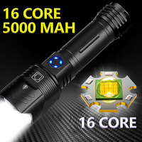Linterna potente XHP199.9 LED XHP50.2 de 5000mAh, linterna con Zoom, lámpara recargable por USB, IPX6 resistente al agua, 5 modos de uso, batería 18650/26650